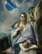 The Penitent Mary Magdalene painting reproduction, El Greco