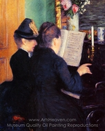 The Piano Lesson painting reproduction, Gustave Caillebotte