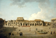 The Piazza at Havana painting reproduction, Dominic Serres