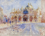 The Piazza San Marco, Venice painting reproduction, Pierre-Auguste Renoir