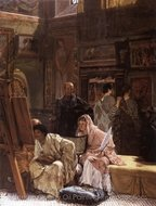 The Picture Gallery painting reproduction, Sir Lawrence Alma-Tadema