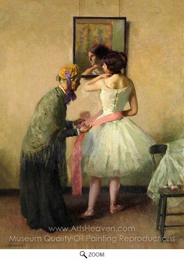 Louis Kronberg, The Pink Sash oil painting reproduction