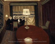 The Poker Game painting reproduction, Felix Vallotton