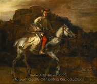 The Polish Rider painting reproduction, Rembrandt Van Rijn