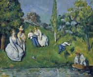 The Pond painting reproduction, Paul Cézanne