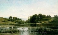 The Ponds of Gylieu painting reproduction, Charles Daubigny