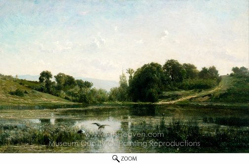 Charles Daubigny, The Ponds of Gylieu oil painting reproduction