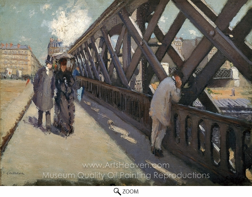Gustave Caillebotte, The Pont de Europe oil painting reproduction