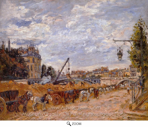 Armand Guillaumin, The Pont Marie, Quay Sully oil painting reproduction