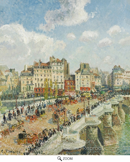 Camille Pissarro, The Pont-Neuf: Rainy Afternoon oil painting reproduction