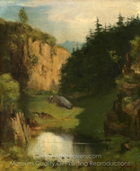 The Pool painting reproduction, Gustave Courbet