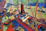The Pool of London painting reproduction, Andre Derain