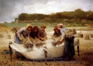 The Poppy Harvest painting reproduction, Francois Laugee Desire