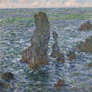 The Port Coton Pyramids painting reproduction, Claude Monet