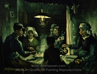 The Potato Eaters painting reproduction, Vincent Van Gogh