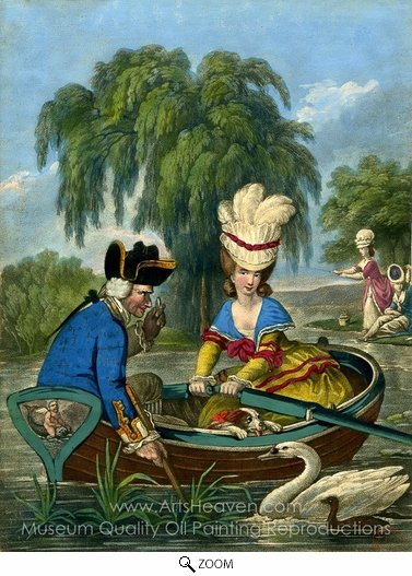 John Collet, The Pretty Waterwoman oil painting reproduction