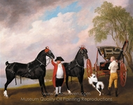The Prince of Wales's Phaeton painting reproduction, George Stubbs