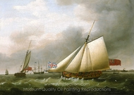 The Privateer Fly and Other Vessels painting reproduction, Francis Holman