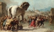 The Procession of the Trojan Horse into Troy painting reproduction, Giovanni Battista Tiepolo