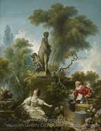 The Progress of Love painting reproduction, Jean-Honore Fragonard