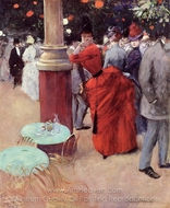 The Public Garden painting reproduction, Jean-Louis Forain
