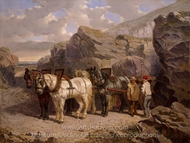 The Quarry painting reproduction, John Frederick Herring Sr.