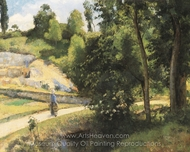 The Quary, Pontoise painting reproduction, Camille Pissarro