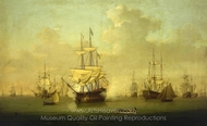 The Queen Charlotte at Spithead 1790 painting reproduction, William Anderson