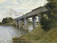 The Railroad Bridge in Argenteuil painting reproduction, Claude Monet