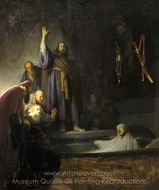 The Raising of Lazarus painting reproduction, Rembrandt Van Rijn