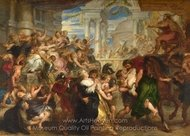The Rape of the Sabine Women painting reproduction, Peter Paul Rubens
