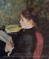 The Reader painting reproduction, Pierre-Auguste Renoir