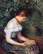 The Reader (La Liseuse) painting reproduction, Pierre-Auguste Renoir