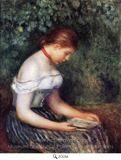 Pierre-Auguste Renoir, The Reader (La Liseuse) oil painting reproduction