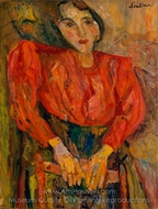 The Red Blouse painting reproduction, Chaim Soutine