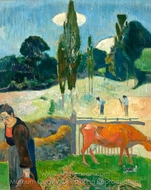 The Red Cow painting reproduction, Paul Gauguin