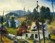 The Red Vine, Matinicus Island, Maine painting reproduction, George Wesley Bellows