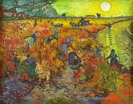 The Red Vineyard painting reproduction, Vincent Van Gogh