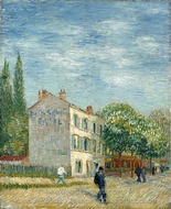 The Restaurant Rispal in Asnieres painting reproduction, Vincent Van Gogh