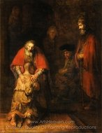 The Return of the Prodigal Son painting reproduction, Rembrandt Van Rijn