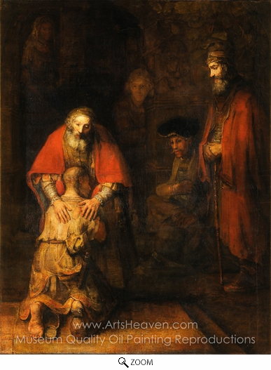 Rembrandt Van Rijn, The Return of the Prodigal Son oil painting reproduction