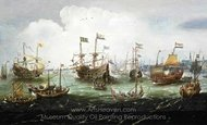 The Return to Amsterdam of the Second Expedition to the East Indies on 19 July 1599 painting reproduction, Andries Van Eertvelt