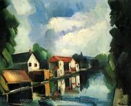 The River painting reproduction, Maurice De Vlaminck