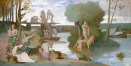 The River painting reproduction, Pierre Puvis De Chavannes