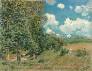 The Road from Versailles to Saint-Germain painting reproduction, Alfred Sisley