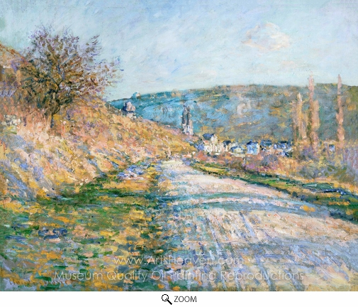 Claude Monet, The Road to Vetheuil oil painting reproduction