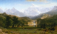 The Rocky Mountains, Lander's Peak painting reproduction, Albert Bierstadt