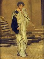 The Roman Architect painting reproduction, Sir Lawrence Alma-Tadema
