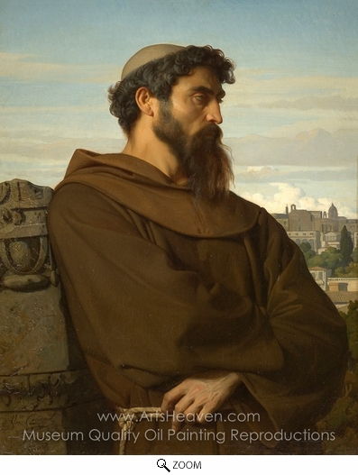 Alexandre Cabanel, The Roman Monk oil painting reproduction