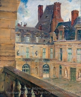The Rooftops, Fontainebleau painting reproduction, Walter Gay
